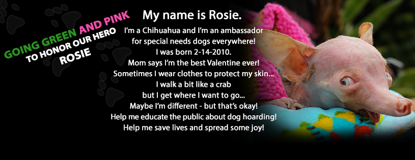 go green/pink rosie fb cover